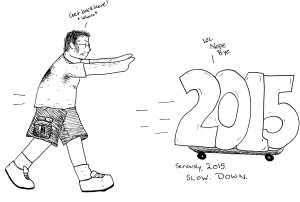 Curse you, anthropomorphic years, and your skateboarding abilities!