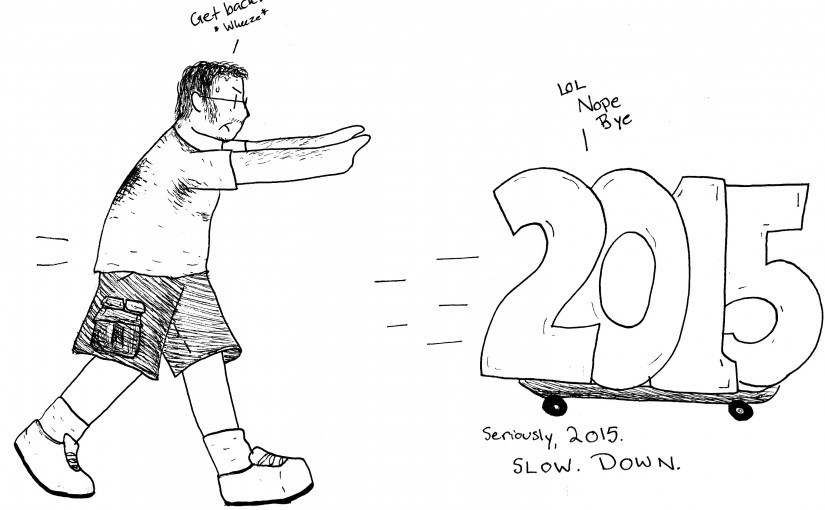 Time Flying by on a Skateboard