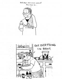 Food glorious food, man.