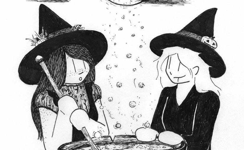 Gloomtober, Days 29+30 – Cauldron/Moon