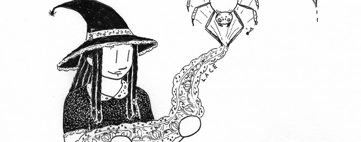 Witchtober, Days 22+24 – Spider Web/Lace